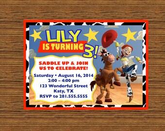 PRINTABLE Custom Invitation - Toy Story Birthday Invitation featuring Jessie and Bullseye