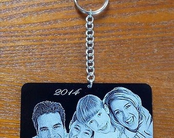 Personalized Laser Engraved Photo/Ornament - FREE US SHIPPING!
