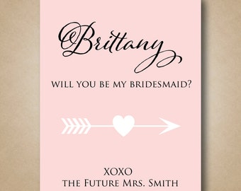 Will You Be My Bridesmaid Wine label Personalized Bridesmaid Wine labels Custom Bridesmaid Wine Stickers Ways to Ask Bridesmaid Wine Gift