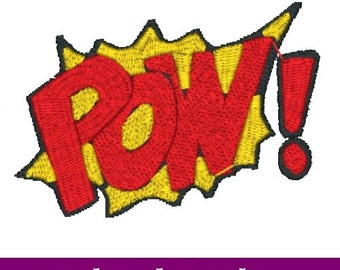 POW! Embroidery File