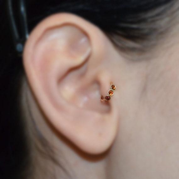 2mm garnet tragus earring gold nose ring rook earring. Black Bedroom Furniture Sets. Home Design Ideas