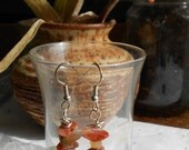 Earrings ~ Mixed Agate Chip Bead Earrings ~ OOAK Handmade Beaded Drop / Dangle Earrings