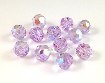 4mm 72pcs VIOLET AB Swarovski Crystal 5000 Faceted Round Beads