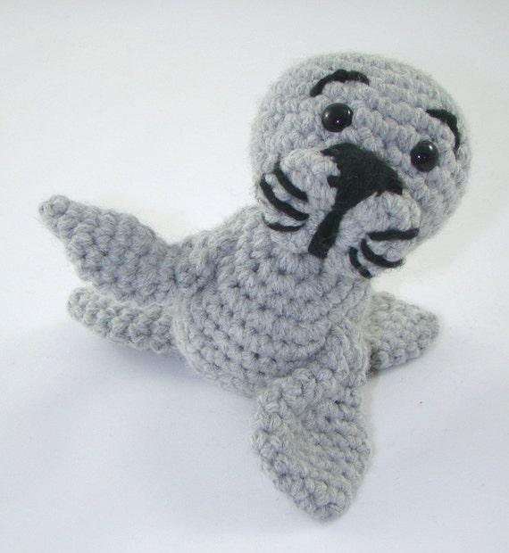 Amigurumi Sammy The Seal : Sammy: The Itty Bitty Handmade Crochet Seal by ...