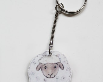 Sheep animal keyring