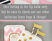 Girl Baby Shower Favors - Pink Baby Shower Lip Balm Girl Baby Shower Ideas Pink and Gold Baby Shower Baby Favor Ideas (EB3031FB) set of 16