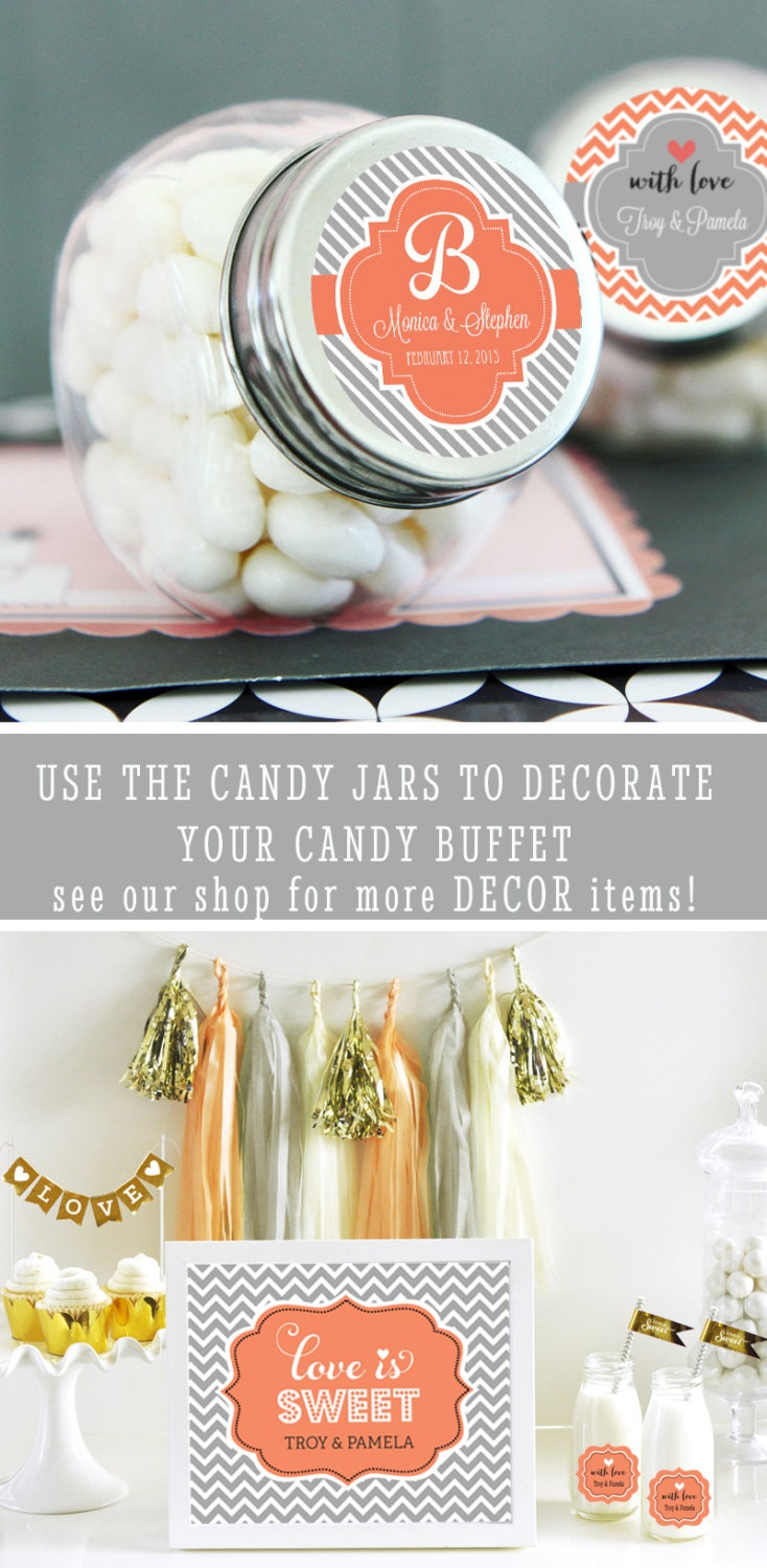 Wedding Candy Jars Personalized Wedding Favor Jars By ModParty