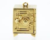 14K Gold Safe Charm