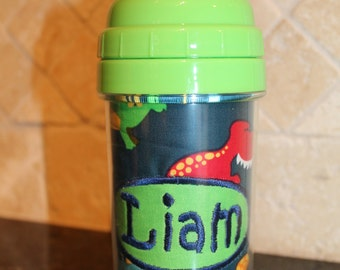 Dinosaur Sippy Cup - Personalized with Name - SIPPY or STRAW Top options