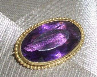 Retro Purple Ameathsyt pin