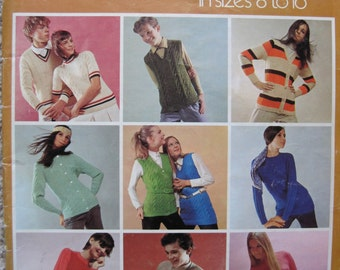 Knit Pattern Book - Young Classics - Sizes 8 to 16 - by Fleisher - Vintage 1970