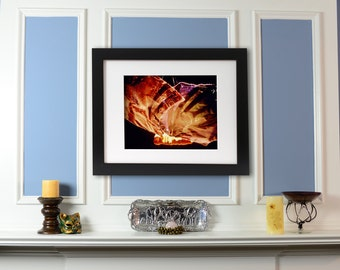 Sculptural Butterfly Fine Art Print using stage lighting