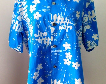 Ui-Maikai Cotton Hawaiian Shirt Made in Hawaii