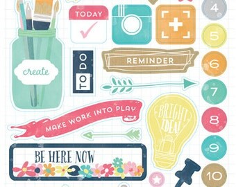 Creative Agenda Chipboard Accents from Echo Park Paper