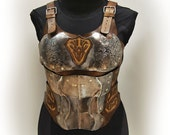 Steel and leather breastp...