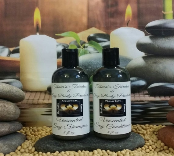 Unscented natural shampoo and conditioner scent by for Salon quality shampoo