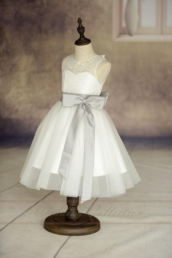 Ivory Lace Tulle Flower Girl Dress With by Weddingcollection - photo #15