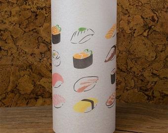 Paper sushi lamp - Sushi painting lantern - Japanese sushi - Sushi kawaii lamp
