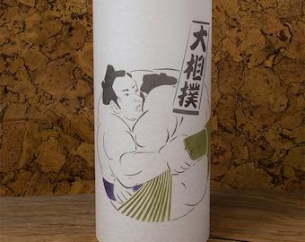 Sumo Lamp Japanese Sumo Wrestler Lamp - Handmade gift from Japan - Sumo - Shoji lamp, Washi japanese lamp lantern