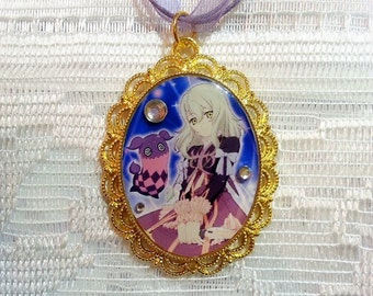 Tales of Xillia: Elize & Teepo Silver Cameo Necklace - Handmade Resin Jewelry