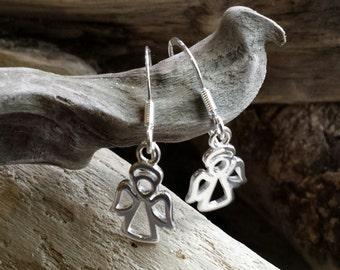 SALE! Angel Earrings, angel jewellery, heaven jewellery, sterling silver earrings, silver earrings, angelic earrings, christmas earrings.
