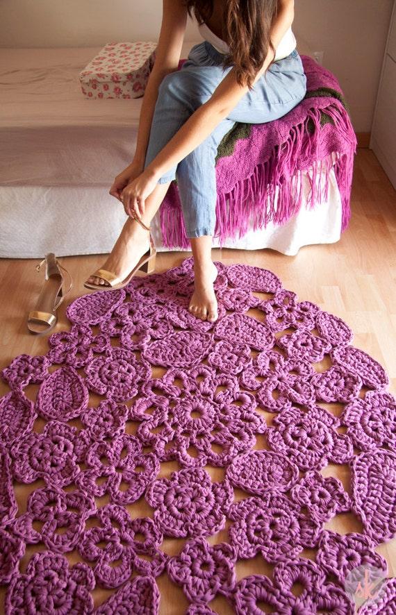 Alfombra de trapillo a crochet de muestras de flores por susimiu - Alfombras ganchillo trapillo ...