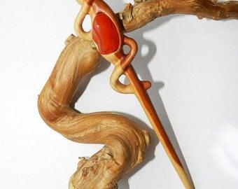 Wooden Hair stick, Wood hair pin, Hair stick