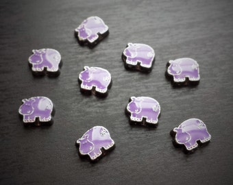 Hippo Floating Charm for Floating Lockets-Purple Hippo-Gift Ideas for Women
