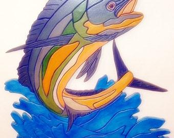 Mahi Mahi, Wood Wall Art, Fisherman, Dolphin, Game Fish