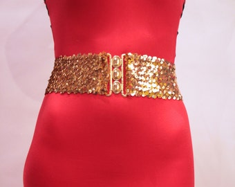 Gold Sequins Belt