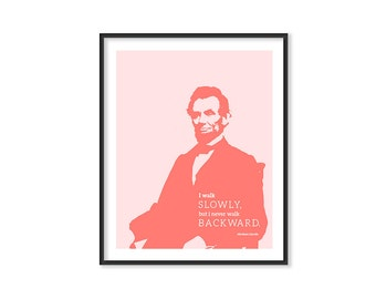 Abraham Lincoln Quote Wall Decor LINCOLN POSTER Inspirational Print Motivational Wall Decor