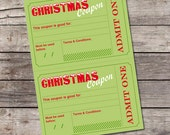 Printable vouchers template