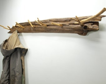 Branch Coat Rack Rustic Driftwood Garment Entryway Wall