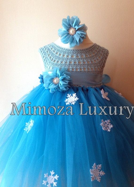 Frozen Tutu, Princess Elsa, Snow Princess, Frozen Costume, Frozen Party, Winter Wonderland Tutu, Blue Turquoise Tutu, Disney Frozen