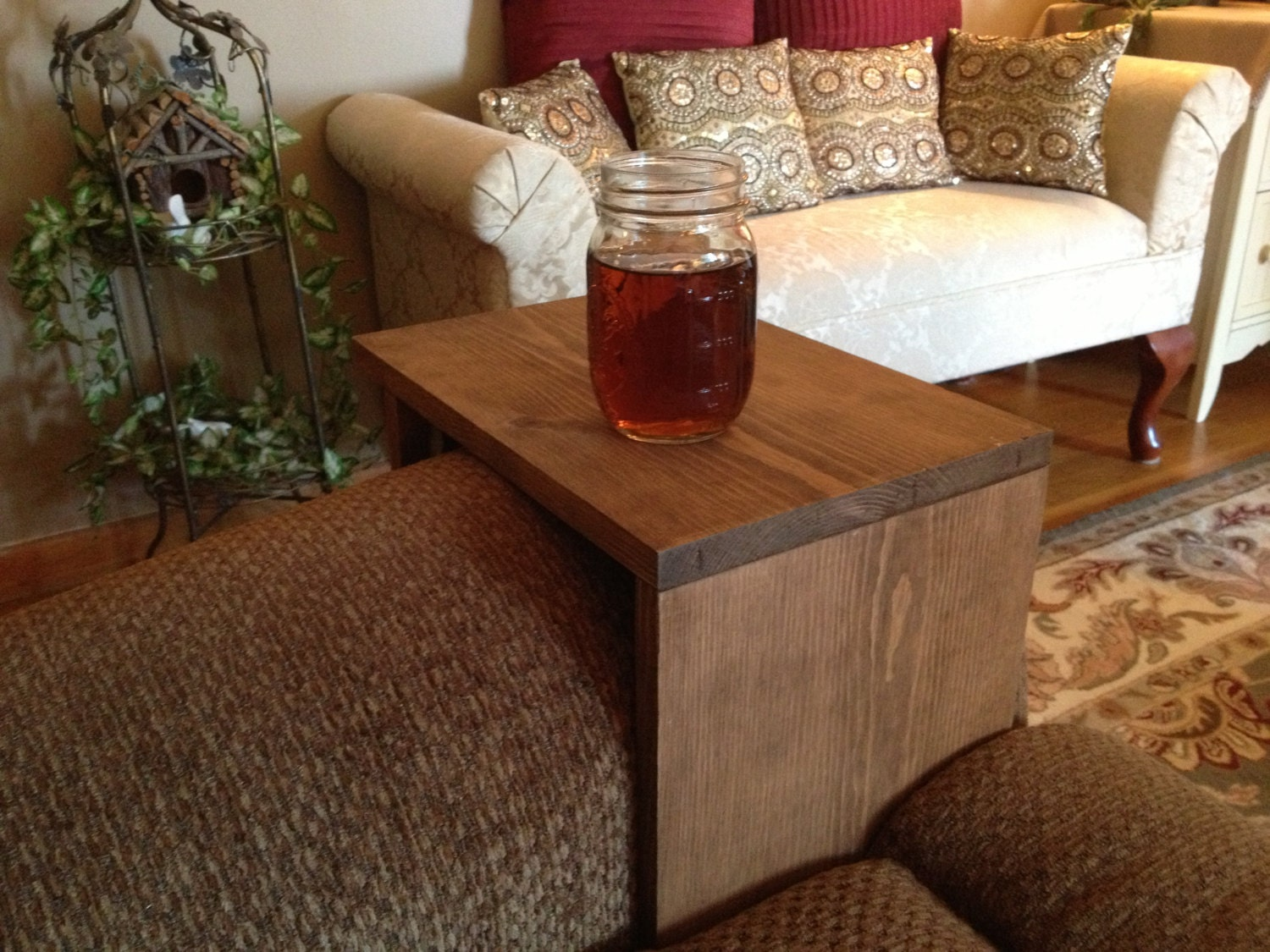 Rustic Sofa Arm Rest Table Couch Tray Arm by DunnRusticDesigns