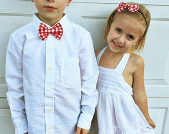 Red checkered Sibling set