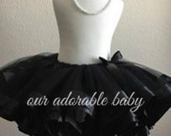 Black Tutu | Toddler Tutu | Black Baby Tutu | Black Ribbon Tutu | Formal Baby Tutu | Toddler Tutu | Baby Tutu