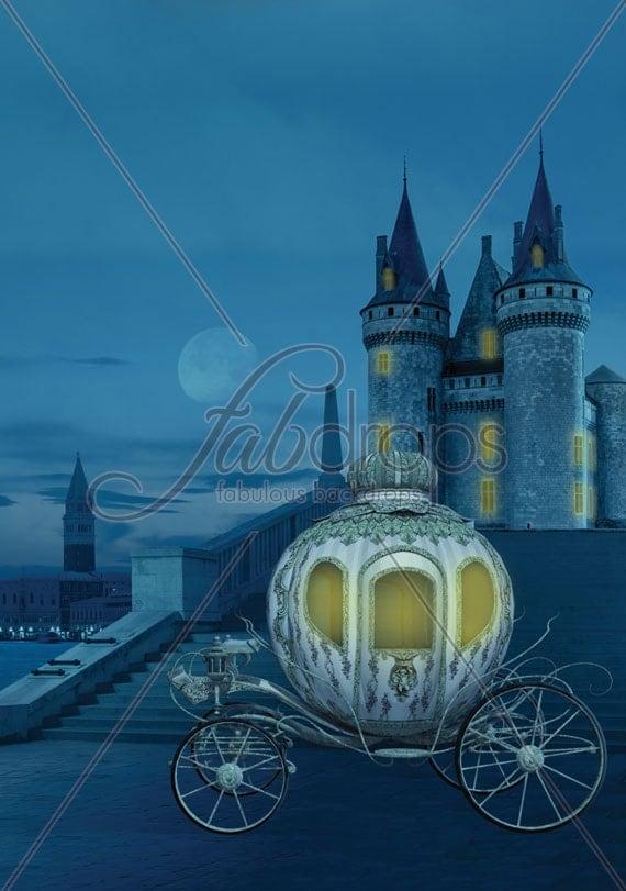 Items similar to Cinderella Castle Photography Backdrop ...