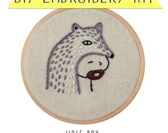 Wolf Boy DIY Embroidery Kit
