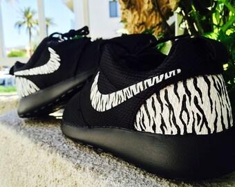 Womens and Mens Custom Rastafari color Nike Roshe Run custom