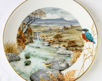 Peter Barett - A Secluded Stream in November - Royal Worcester Collectors Porcelain Plate