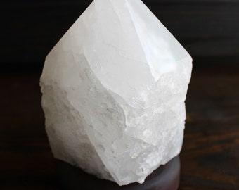 SALE~Natural Quartz Crystal Point Electric Lamp