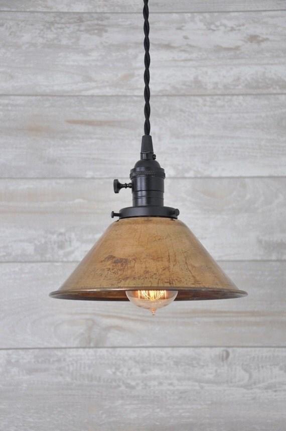 Unfinished Copper Spun Cone Industrial Pendant Light Fixture