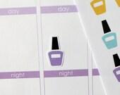 42 Nail Polish/Salon Stickers for Erin Condren Planner, Filofax, Plum Paper