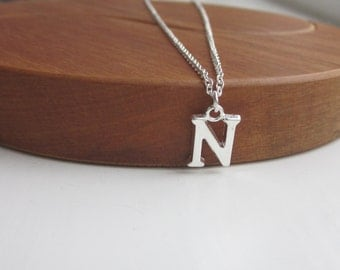Initial Necklace, Personalised necklace, Initial pendant, silver necklace, children's necklace, personalised gift