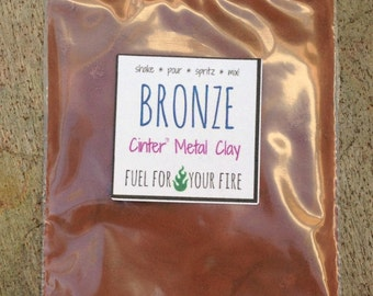 bronze metal clay powder ecofriendly art supplies 50 grams
