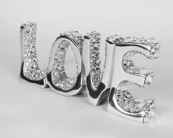 Swarovski crystal love ornament