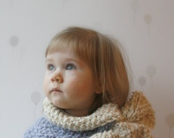 KNITTING PATTERN bow scarf cowl Hilda (baby, child, adult sizes)