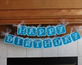 Frozen Birthday Banner - Frozen Decorations - Birthday Banner - Frozen