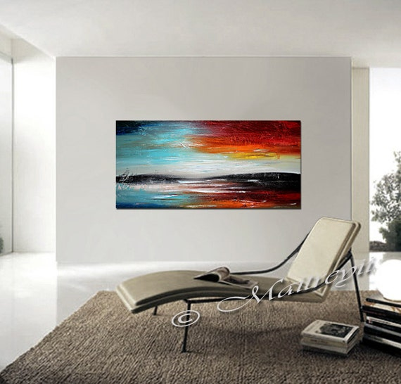 48 seascape acrylic painting wall decor wall art on. Black Bedroom Furniture Sets. Home Design Ideas